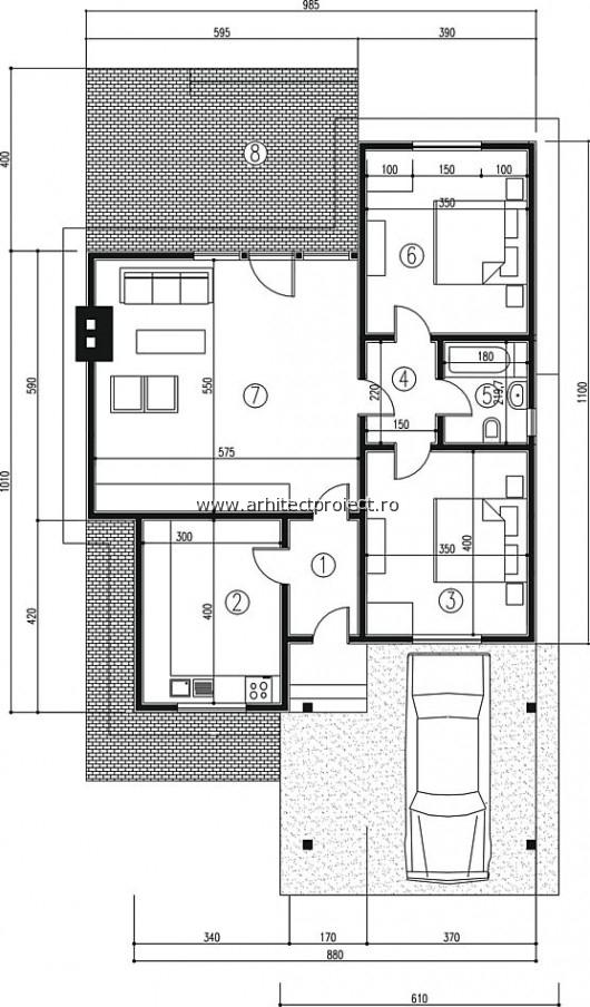 PLAN – Proiect de casa individuala