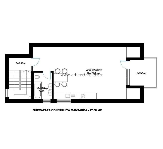 PLAN MANSARDA – casa individuala
