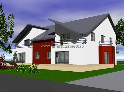 perspectiva casa cuplata construita