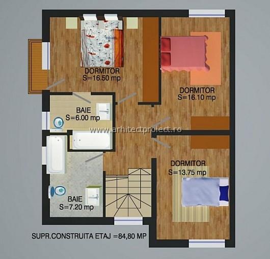 planuri de prezentare casa tip a-b_ETAJ CASA 154 MP