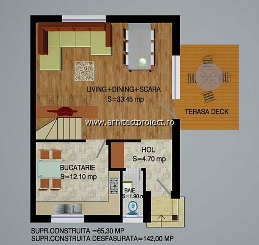 planuri de prezentare casa tip a-b_PARTER CASA 142 MP