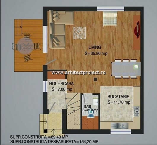 planuri de prezentare casa tip a-b_PARTER CASA 154 MP