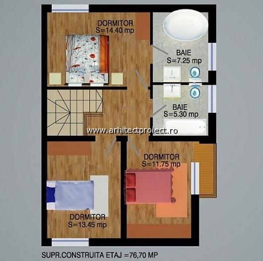 planuri de prezentare casa tip a-b_ETAJ CASA 142 MP